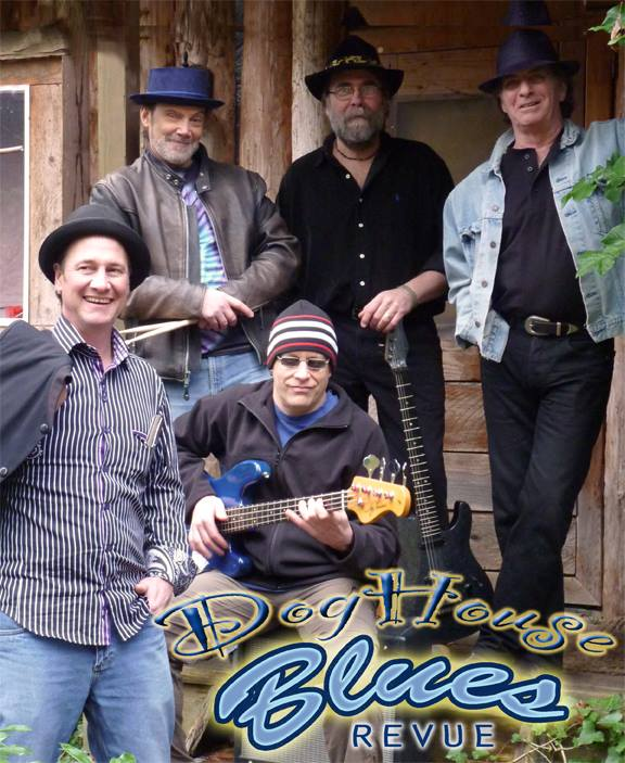 Doghouse blues revue, Gabriola Songs, Gabriola Musicians. blues band